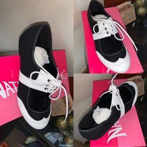 NIB Oreo Loafer Oxford Retro Saddle Shoes